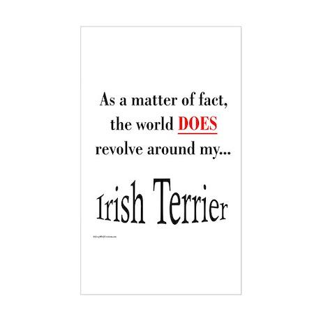 Irish Terrier World Rectangle Sticker