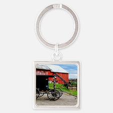 11x11 barn2 Square Keychain