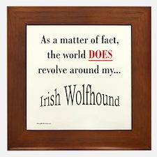 Wolfhound World Framed Tile