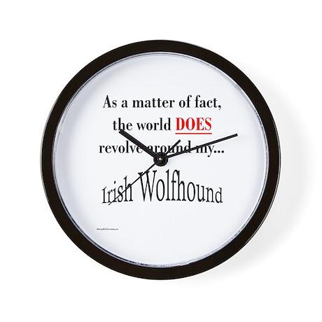 Wolfhound World Wall Clock