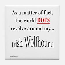 Wolfhound World Tile Coaster