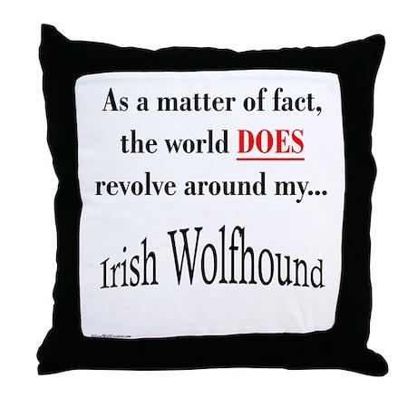 Wolfhound World Throw Pillow
