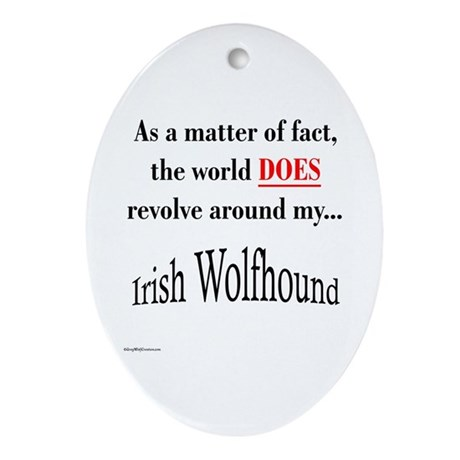 Wolfhound World Oval Ornament
