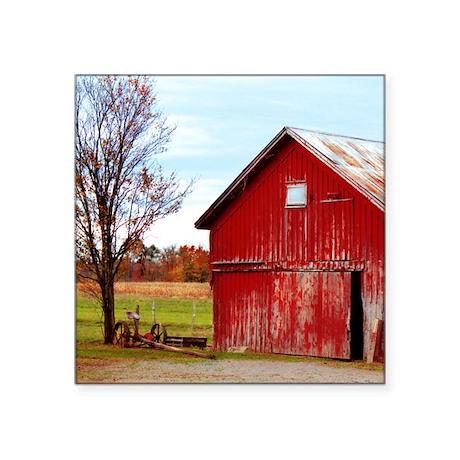 """11x11 barn1 Square Sticker 3"""" x 3"""""""
