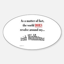 Wolfhound World Oval Decal