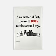 Wolfhound World Rectangle Magnet