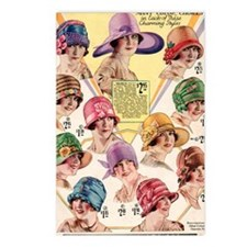 20s hats Postcards (Package of 8)