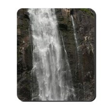 Tourist AT Espelandsfossen waterfall abo Mousepad
