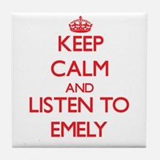 Keep Calm and listen to Emely Tile Coaster