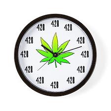 420 weed clock large Wall Clock