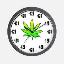 420 weed clock large Wall Clock
