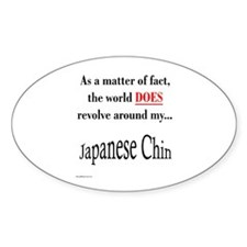 Chin World Oval Decal