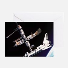 Atlantis & The Space Station Greeting Cards (Pk of
