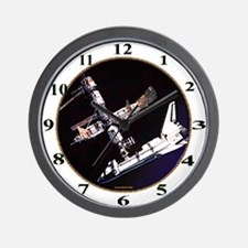 Atlantis & The Space Station Wall Clock
