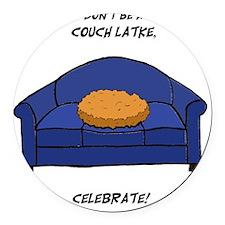 Couch Latke Round Car Magnet