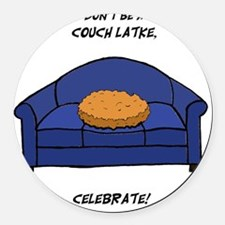 Couch Latke Round Car Magnet