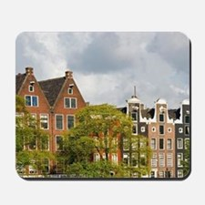 Row houses along the Amstel River in Ams Mousepad