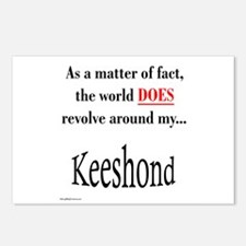 Keeshond World Postcards (Package of 8)