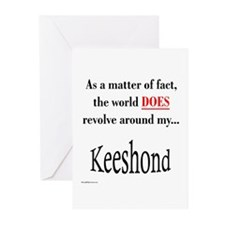 Keeshond World Greeting Cards (Pk of 10)