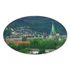 Trondheim. Town view and Nidarosdom Decal