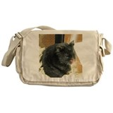 Hamster black Canvas Messenger Bags
