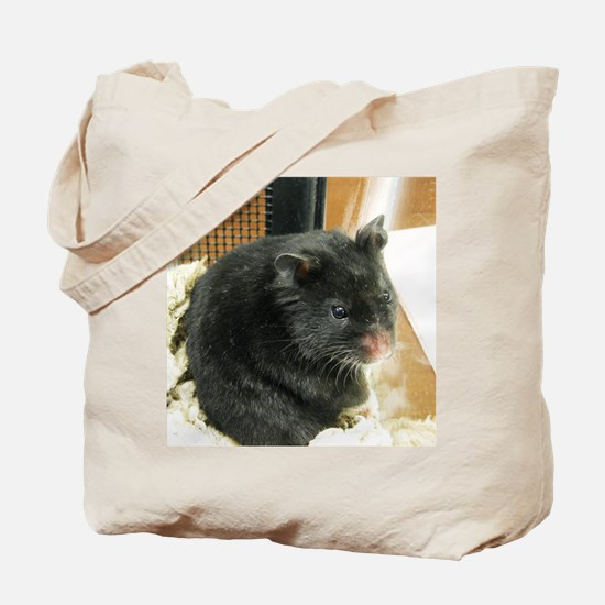 Black Hamster Tote Bag