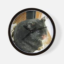 Black Hamster Wall Clock