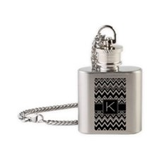 444_pattern_monogram_zigzag_K Flask Necklace