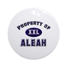 Property of aleah Ornament (Round)