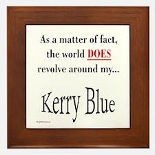 Kerry Blue World Framed Tile