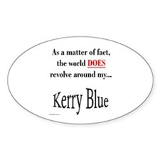 Kerry Blue World Oval Decal