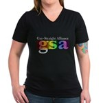 GSA Classic Women's V-Neck Dark T-Shirt
