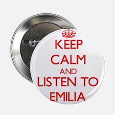 "Keep Calm and listen to Emilia 2.25"" Button"