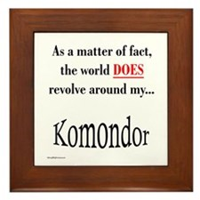 Komondor World Framed Tile