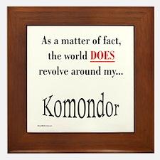 Komondor World Framed Tile