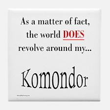 Komondor World Tile Coaster
