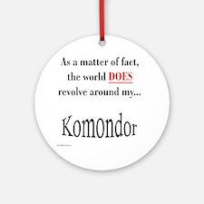 Komondor World Ornament (Round)