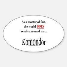Komondor World Oval Decal
