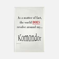 Komondor World Rectangle Magnet