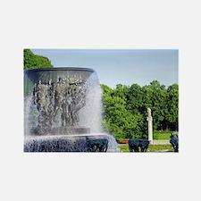 Norway, Oslo, Vigeland Park, Frog Rectangle Magnet