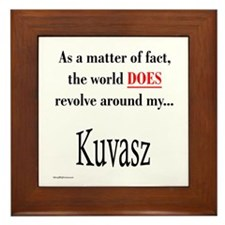 Kuvasz World Framed Tile