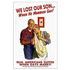 Our Son Married Gay! Large Poster