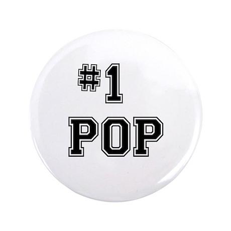 """#1 Pop 3.5"""" Button"""