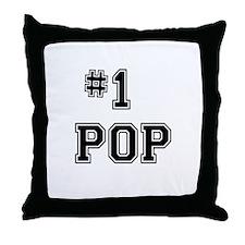 #1 Pop Throw Pillow