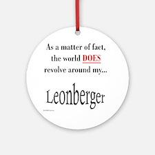 Leonberger World Ornament (Round)