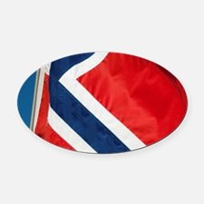 Norway. Norwegian flags. Oval Car Magnet