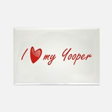 I Love My Yooper Rectangle Magnet