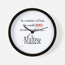 Maltese World Wall Clock