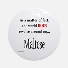 Maltese World Ornament (Round)