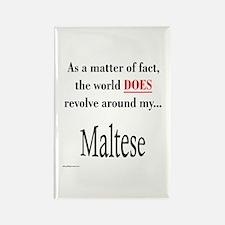 Maltese World Rectangle Magnet
